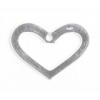 SS.925 Open Heart Flat 1 Hole 20x15mm Aprox 8.88gm